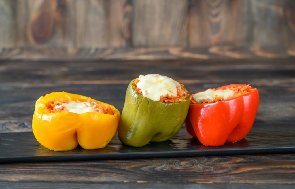 Baked stuffed peppers with rice