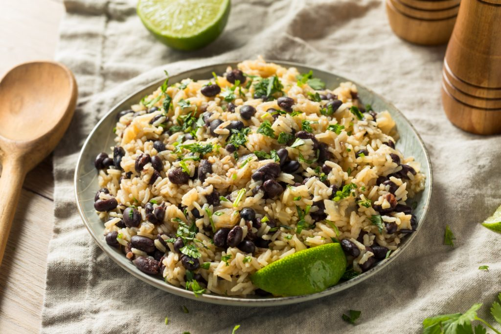 Homemade Mexican Black Beans and Rice