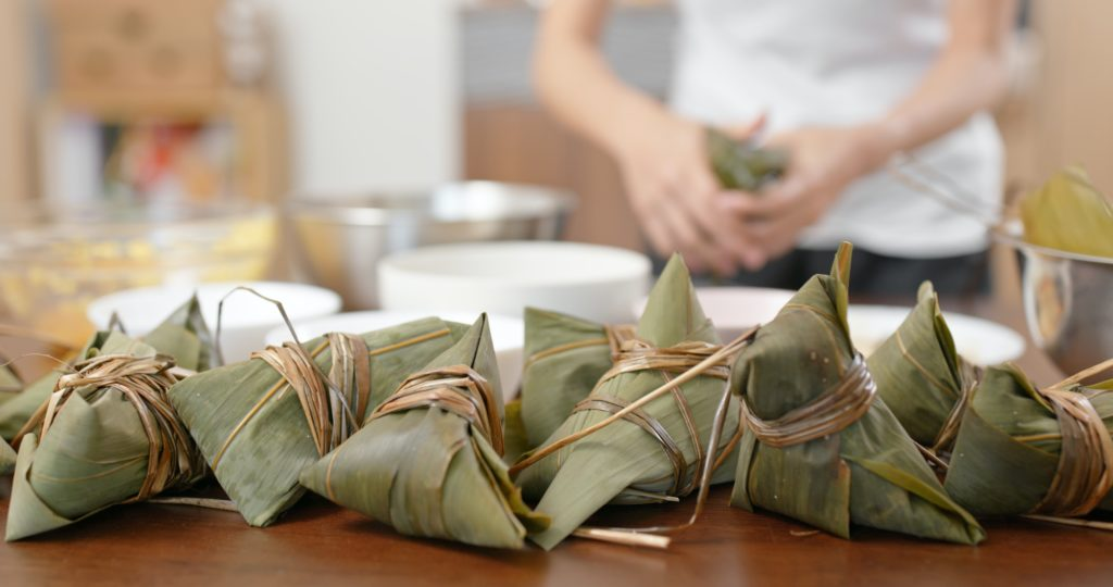 Make steamed sticky rice dumpling at home