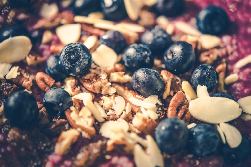 Blueberries and Nuts Oatmeal