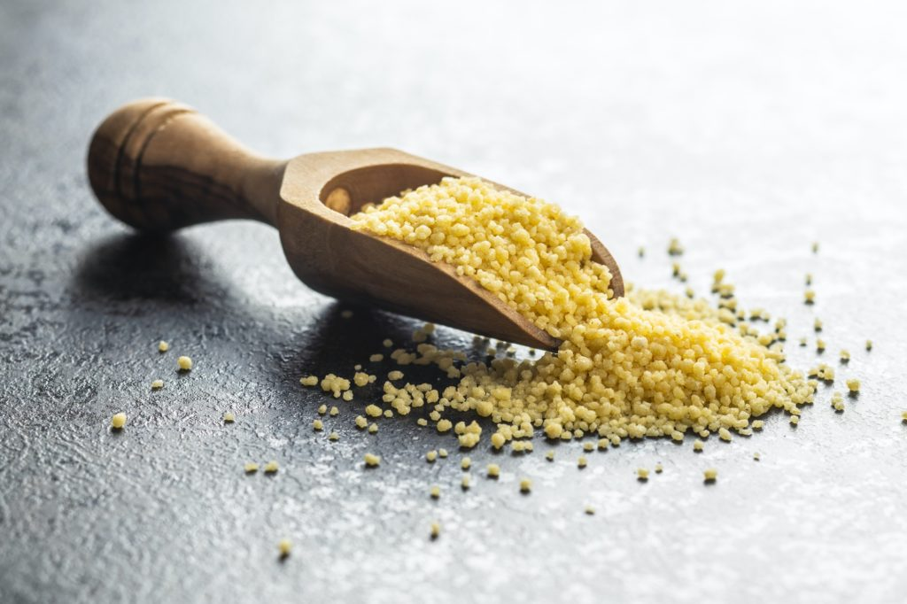 Dry yellow couscous